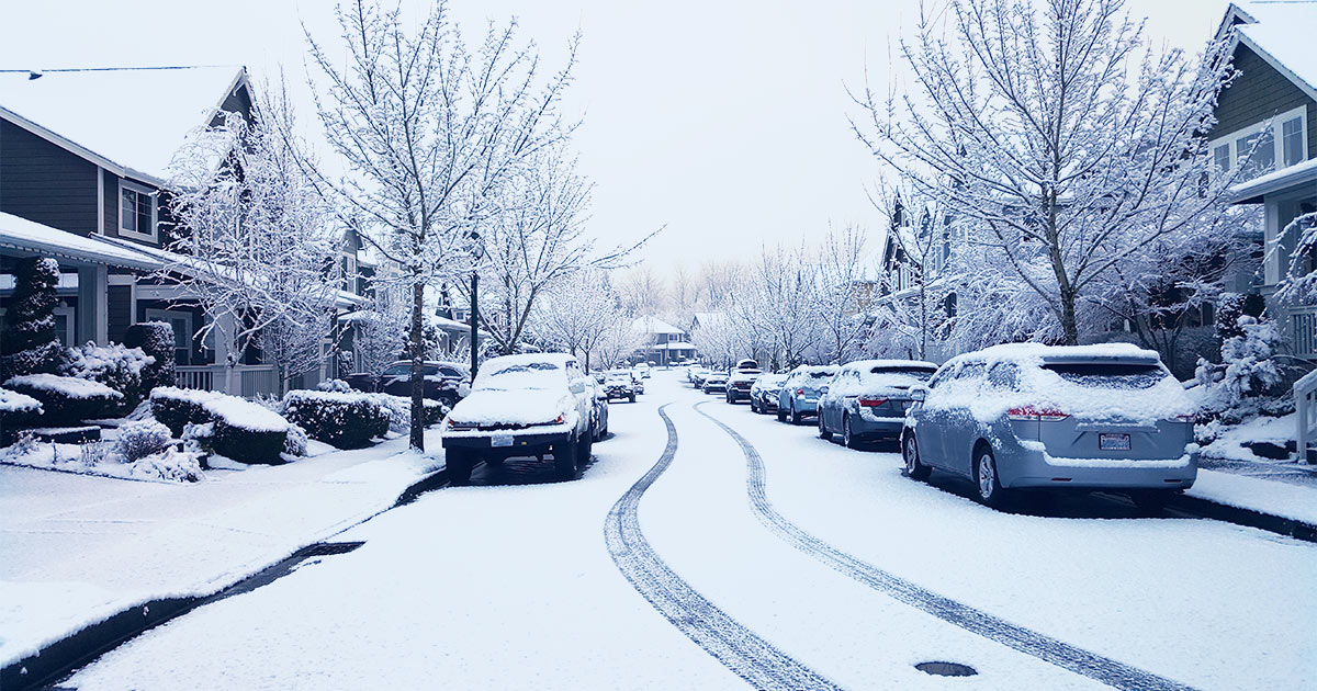 Issaquah Highlands Snowy Streets