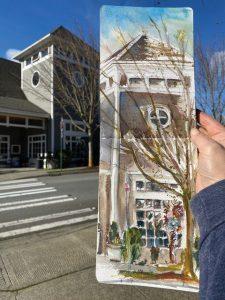 Urban Sketch Blakely Hall