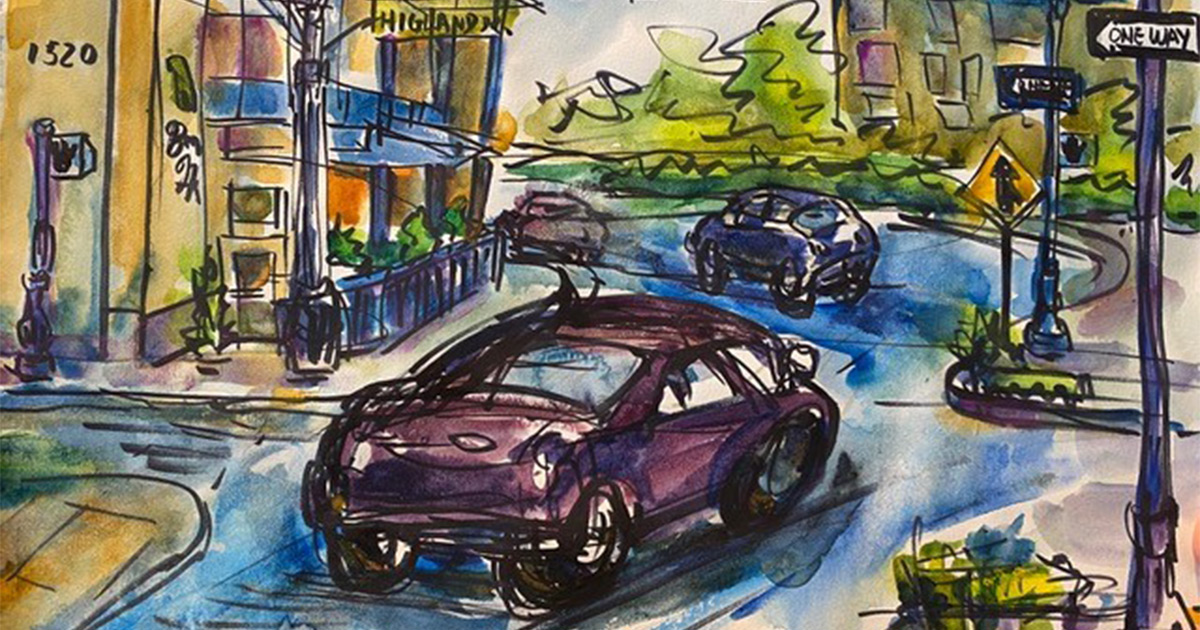 Urban Sketchers Highlands Drive