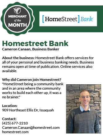 Issaquah Highlands Mercant of the Month April 2020 Homestreet Bank