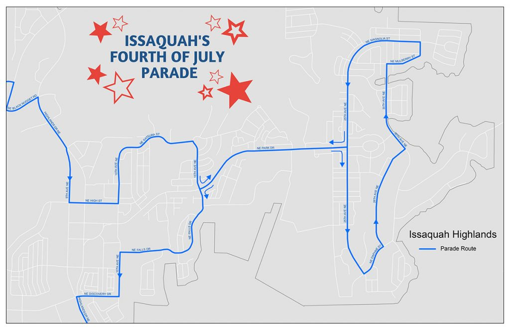 City of Issaquah Fourth of July Parade Map 2020
