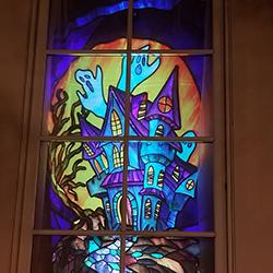 Blakely Hall Halloween Light Show
