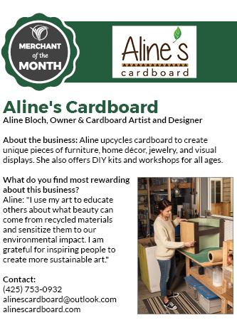December 2020 Merchant of the Month Aline's Cardboard