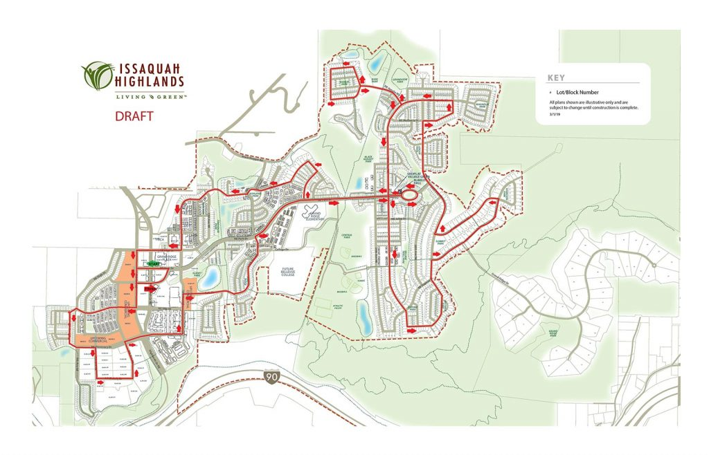 Issaquah Highlands Santa Route Map 2020