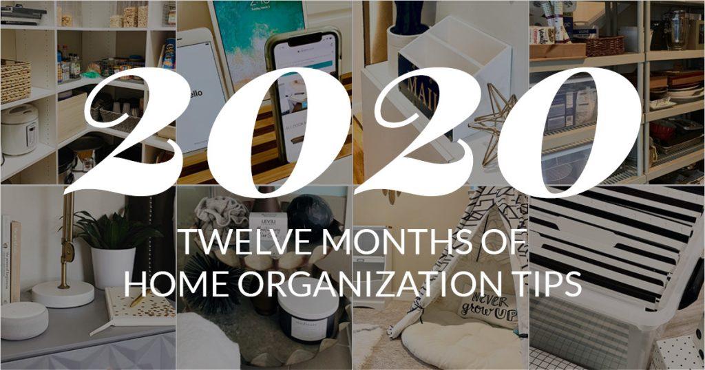2020 Home Organization Calendar