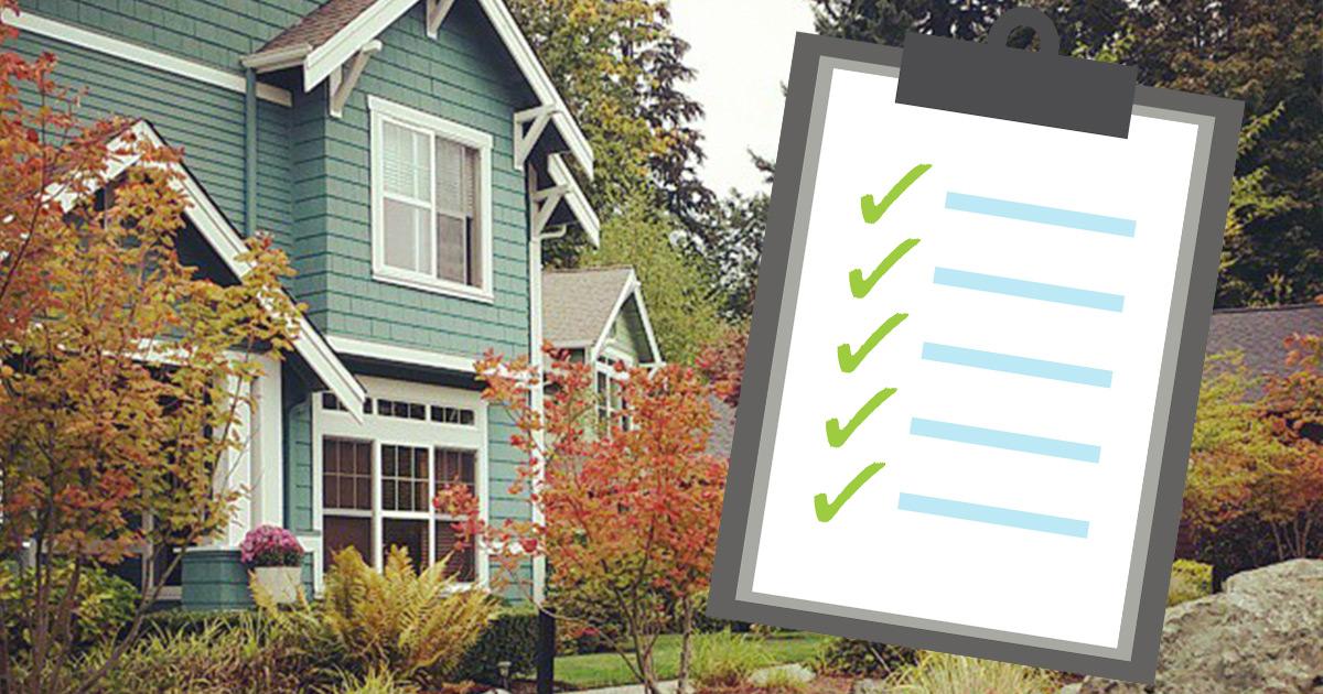 Homeowner prep checklist