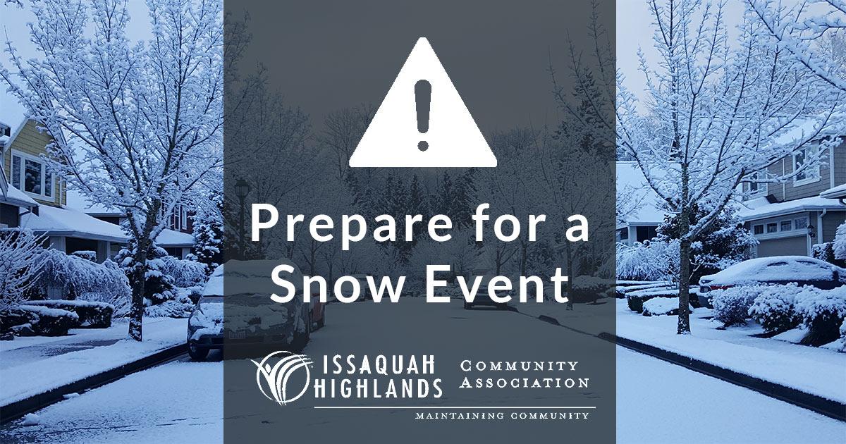 IHCA Snow Alert