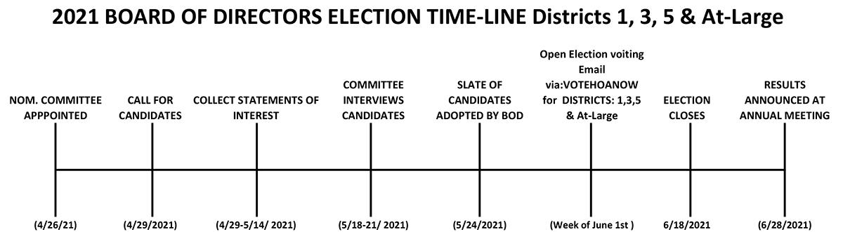 IHCA 2021 BOD Election Timeline