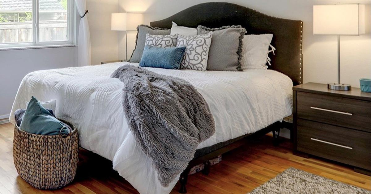 Organized bedroom