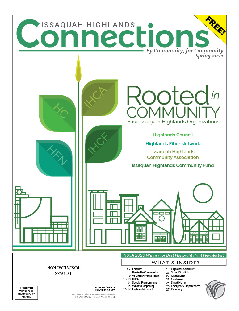 Issaquah Highlands Spring 2021 Connections cover