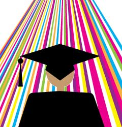Connections graduation announcement