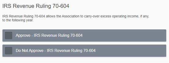IRS RR Ruling 70 ballot screenshot
