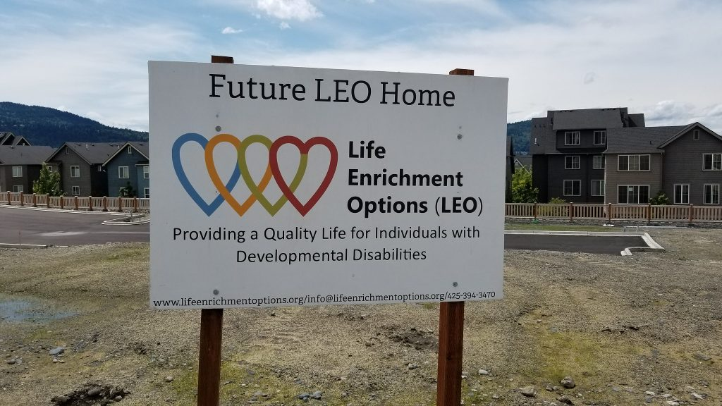 Future LEO Home sign in Issaquah Highlands