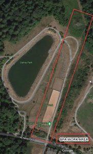 Bark Park BPA Trail Closure Map 2021