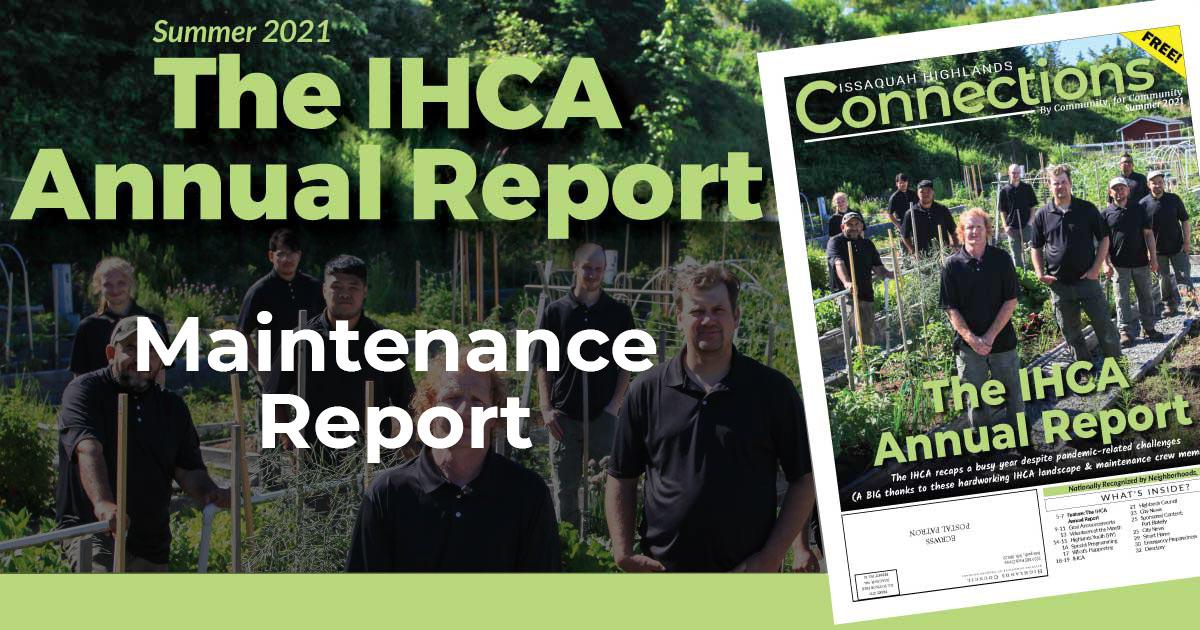 IHCA 2021 Annual Report Maintenance Report