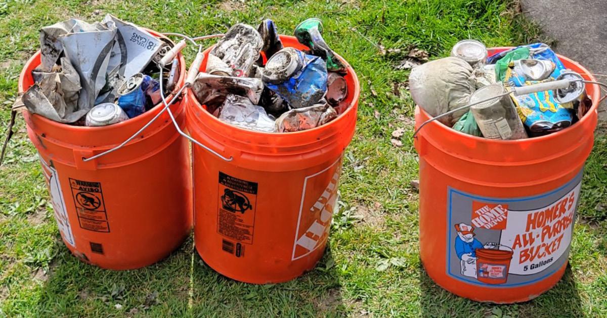 buckets of litter