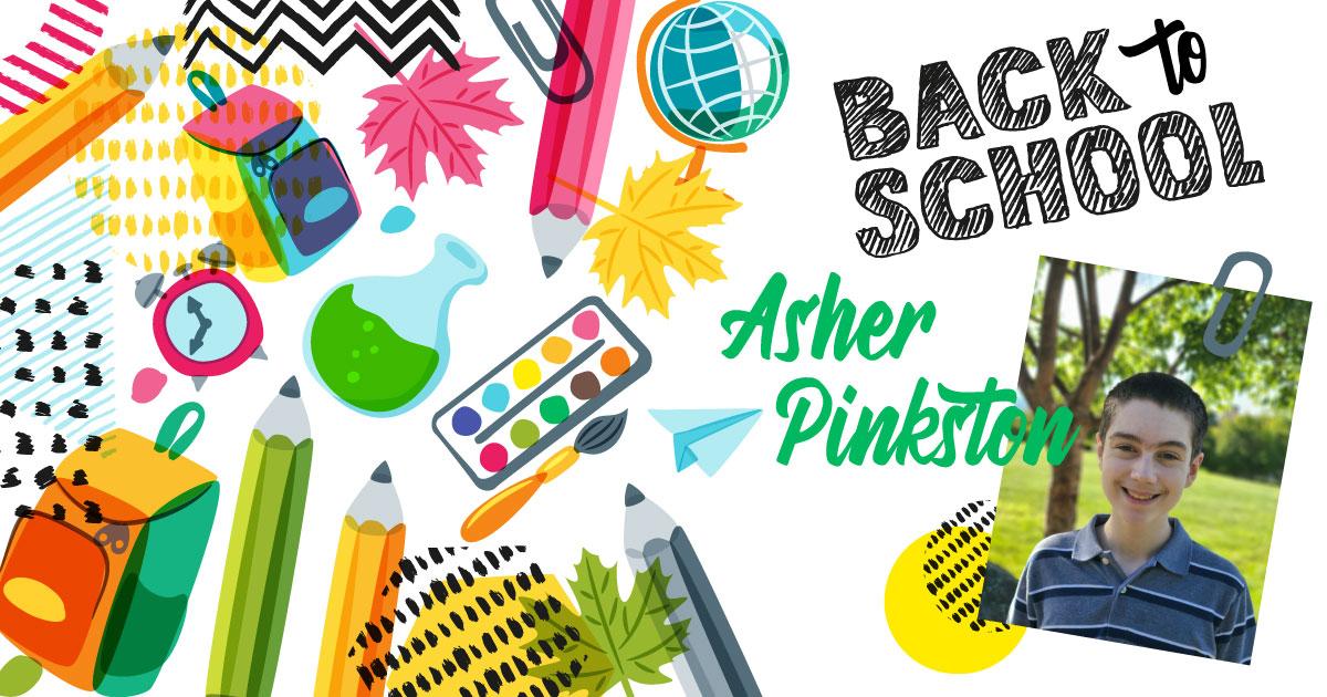 Asher Pinkston HY Back to School
