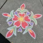 Sample chalk rangoli