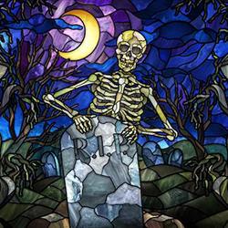 Halloween Digital Window Display