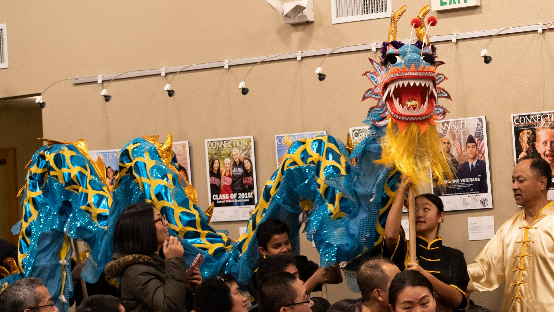 Blakely Hall dragon dance