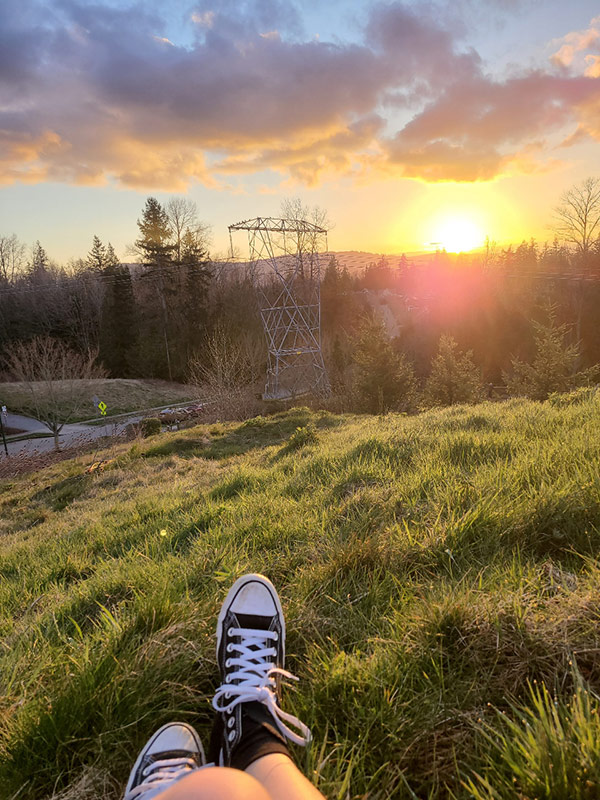 Grand View Park sneakers sunset